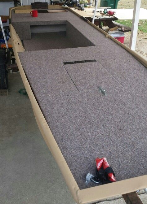 Side storage finished jon boat conversion to bass boat for Jon boat bass fishing