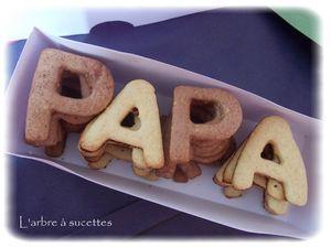 Des petits sablés pour les goûters de votre papa