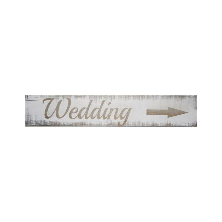 Wooden Wedding Sign  450x90 mm