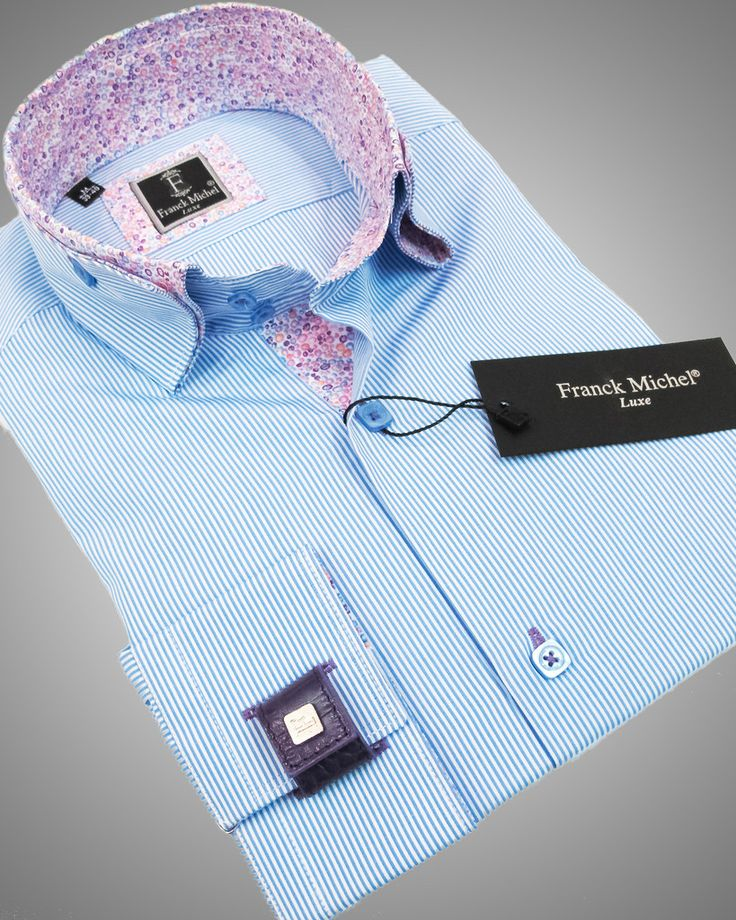 LUXURY SHIRTS FOR MEN - VEGAS BLUE Just at $159.00