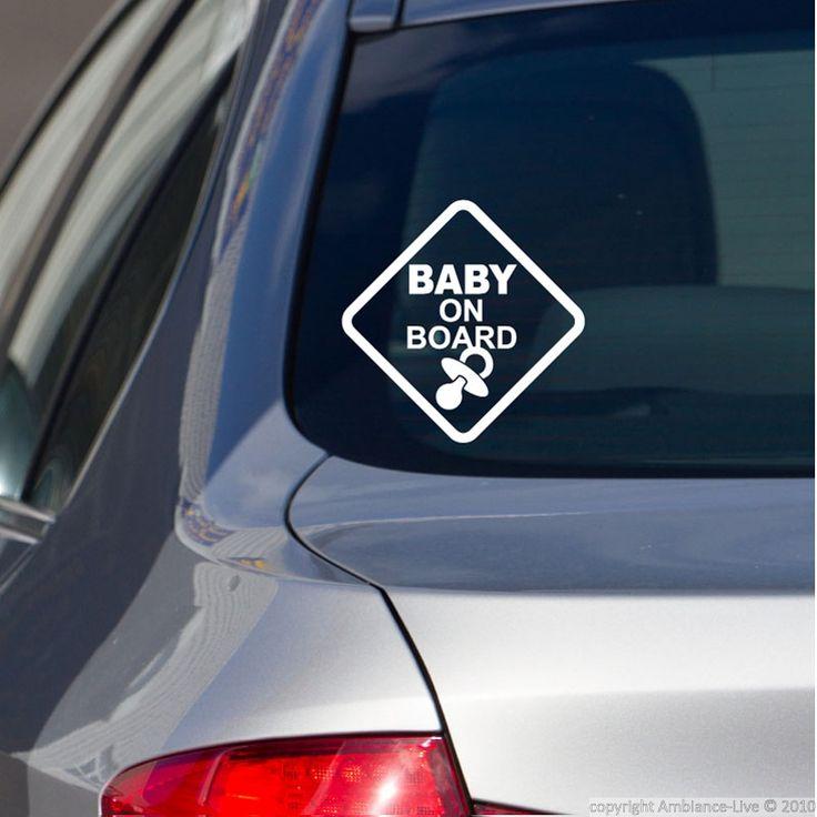 Sticker baby on board avec tute