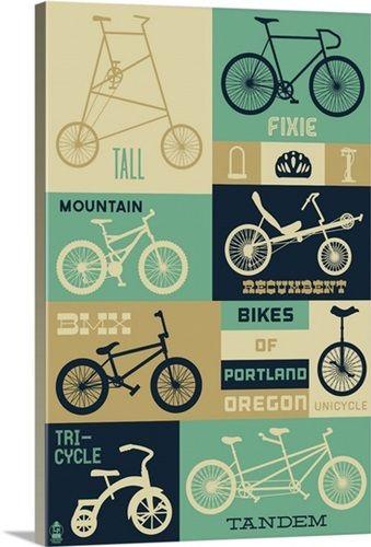 Portland, Oregon, Bicycle Types (Blues)