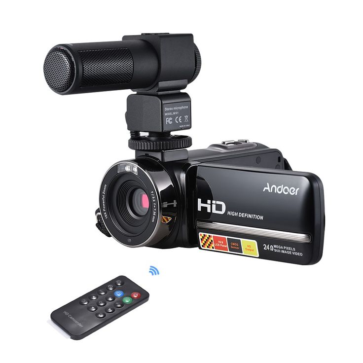 Andoer HDV-3051STR Portable 24Mega Pixels Digital Video Camera Sales Online black - Tomtop.com