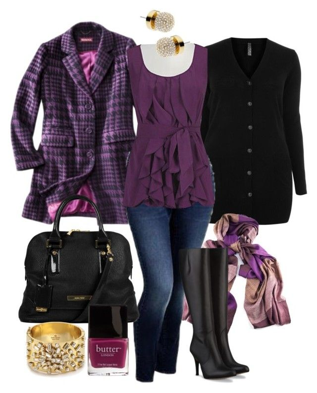 Purple Layers - Plus Size by alexawebb on Polyvore featuring Merona, Old Navy, Ivanka Trump, Kate Spade, Butter London, Michael Kors and plus size