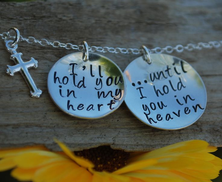 Memorial Rememberance Necklace Bereavement Sympathy Jewelry - Hand Stamped Stamped Sterling Silver. $74.00, via Etsy.