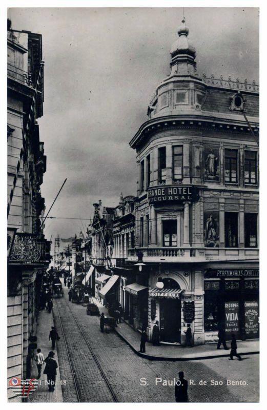 Rua São Bento,SP -  início de 1920