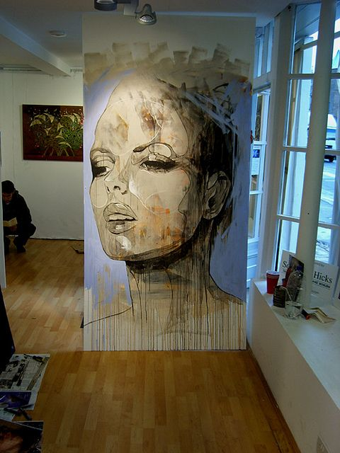 Danny O'Connor DOC - inside Bedford Street Gallery by Art By Doc, via Flickr