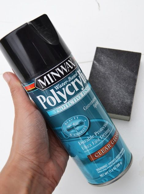 minwax polycrylic as finish coat over chalk paint instead of wax diy projects pinterest. Black Bedroom Furniture Sets. Home Design Ideas