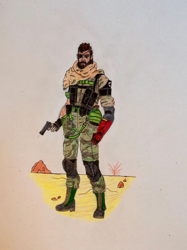 i drew Snake (MGSV)