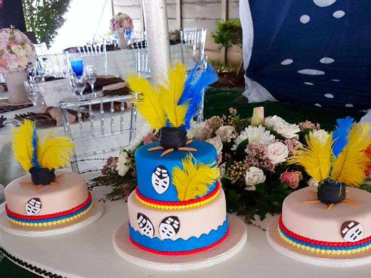 African Traditional (Swazi design) wedding cake by Shonga Events