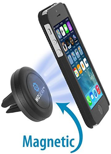nice WizGear Universal Air Vent Magnetic Car Mount Holder for Smartphones and Mini Tablets, Black