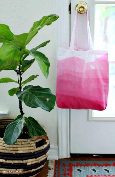 DIY Dip-Dyed Ombre Bag