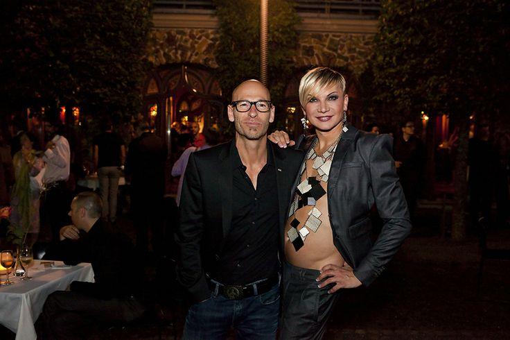 CHRIS Kolonko and GOP Kreativchef Werner Buss