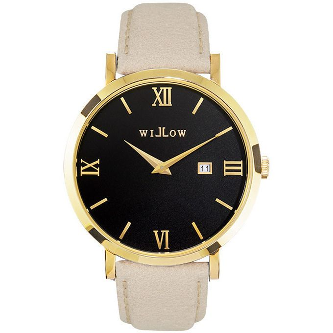 Willow Milano Watch in Gold w/ Beige Leather Strap | Buy Women's Watches