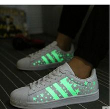 2015 men glowing sneakers with lights up luminous shoes a new simulation sole led shoes for adults(China (Mainland))