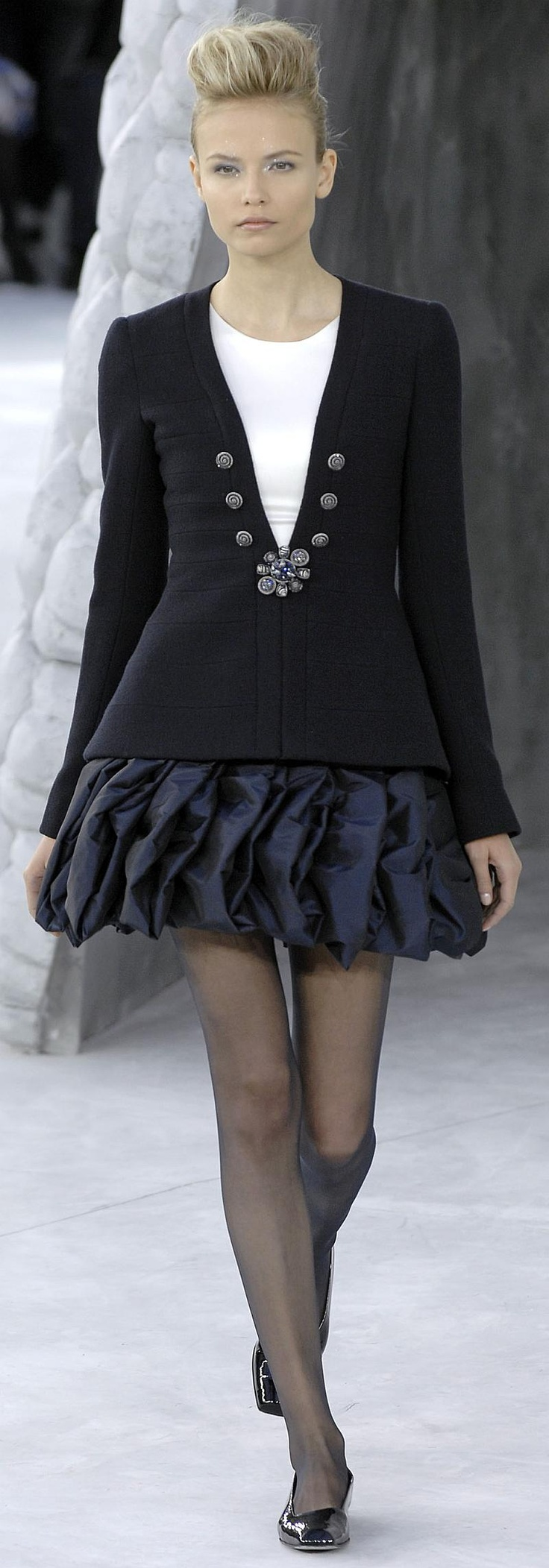 Chanel ~ Black and Navy Mini Dress