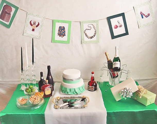 Staged a Nigerian Independence party inspiration shoot using the colors of the Nigerian flag for inspiration