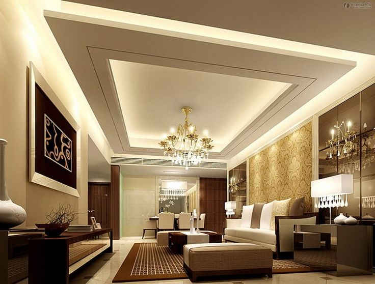 White-Ceiling-With-Cool-Architecture-And-Chandelier-White-Sofas-And-Artistic-Frame.jpg (750×569)