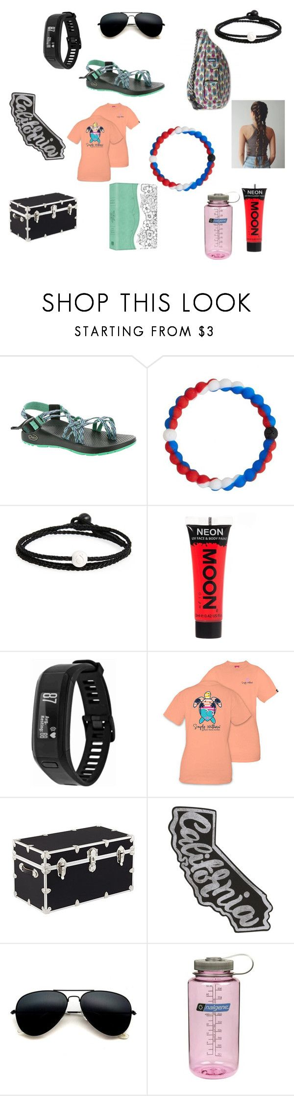 """Camp Merri Mac"" by crazy-hufflepuff on Polyvore featuring Kavu, Chaco, Lokai, Garmin, Blue Crown, Nalgene, love and camp"
