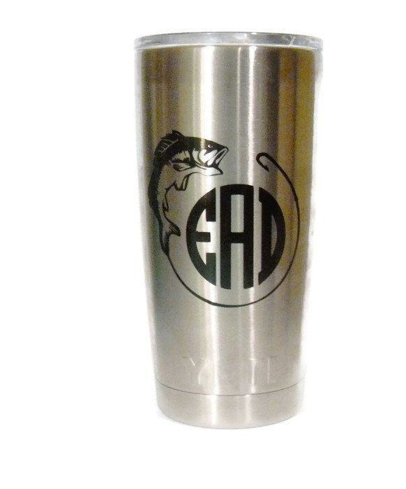 53 best images about custom yeti ramblers pick your for Fishing yeti decal