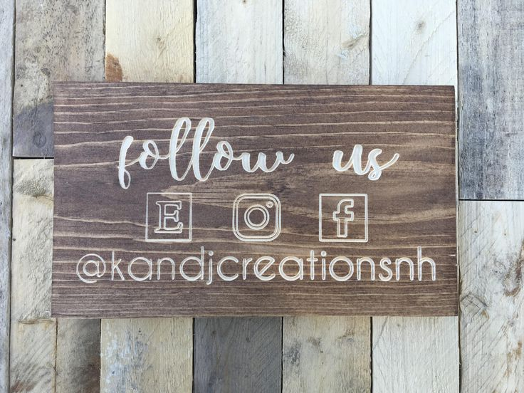 Social Media Sign | Small Business | Marketing Tool | Instagram Sign | Etsy Sign | Facebook Sign | Follow Us | by KandJCreationsNH on Etsy