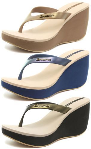 Ipanema Brasil Samba 2015 Womens Beach Wedge Flip Flops All Sizes And Colours
