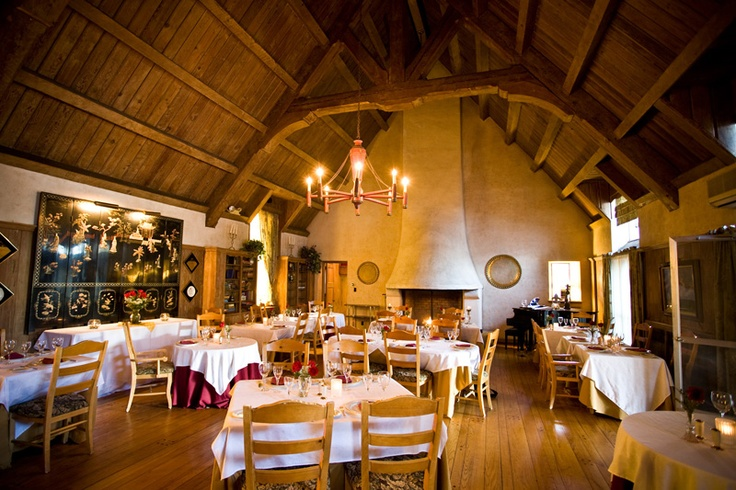 Rench Manor - The Twin Fireplace Dining Room with 40 foot vaulted ceiling