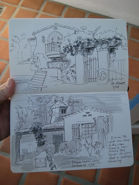 #artchurch beautiful urban sketch from Jon Hall of San Diego