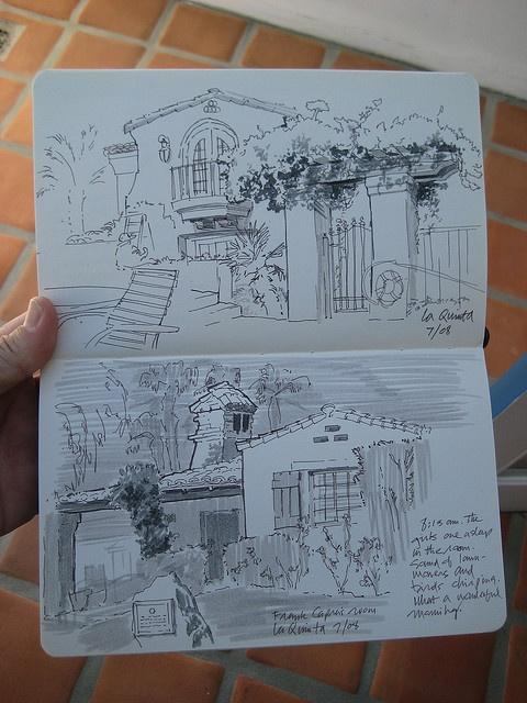 beautiful urban sketch from Jon Hall of San Diego