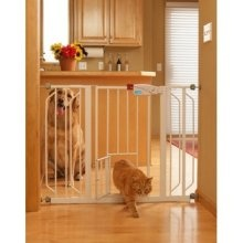 When I move the bedroom into the old living room, I'm going to need an extra wide baby gate for Suge. Plus a little door for Boo!