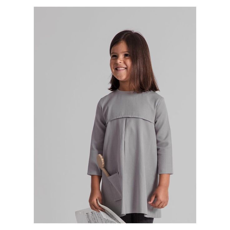 Dress with pocket | Winter Notes Collection by Annice | Minimal kids wear
