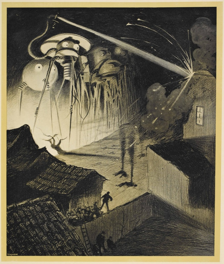 This is an illustration by Alvin Correa, a brazilian artist, for a 1906B edition of H.G. Wells' War of the Worlds.