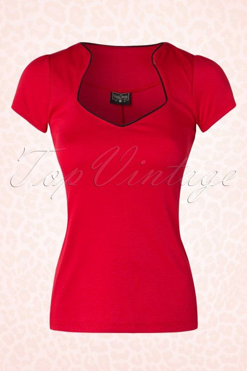 Steady Clothing Piped Sophia Tee In Red 111 20 17050 20151123 0003W