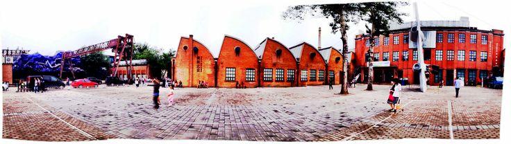 ex-industrial area, 798, art district Beijing