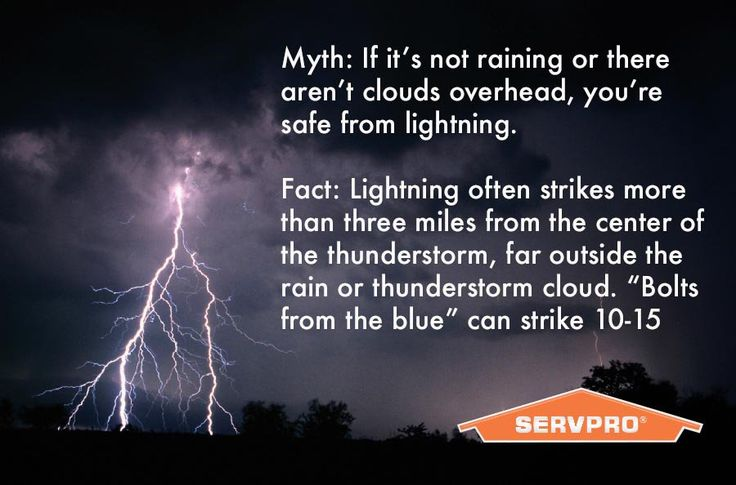 More Lightning Facts from the National Weather Service. #LightningSafety #HeretoHelp #Servpro http://www.lightningsafety.noaa.gov/myths.shtml