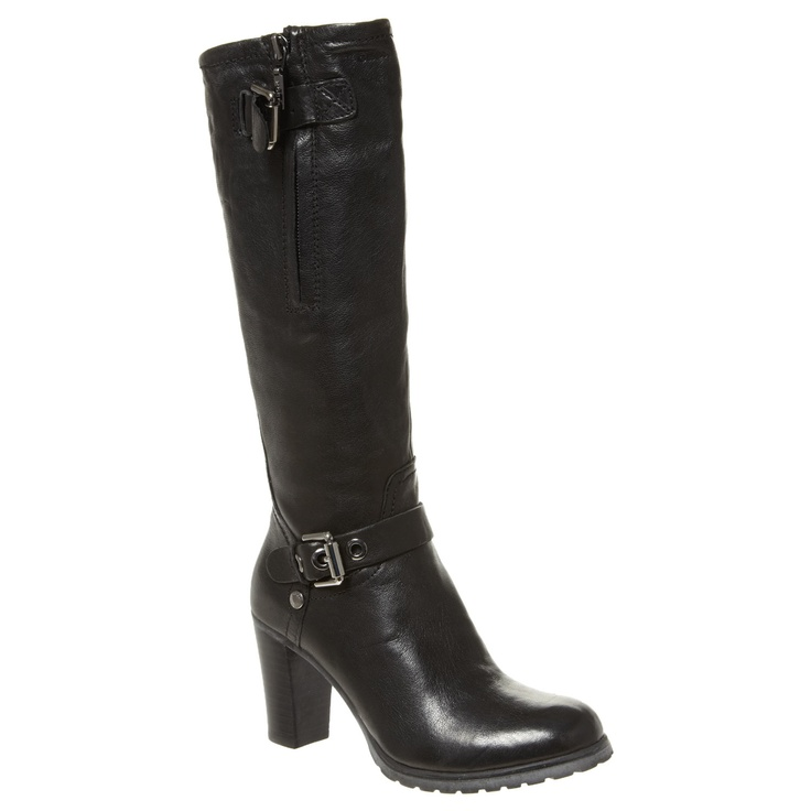 Black High Heeled Leather Boots for £59.99 #fabfind