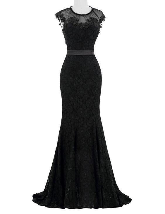 Elegant Evening Dress,Black Prom Dress,Long Evening Formal Dress,Mermaid Formal Gown by fancygirldress, $169.00 USD