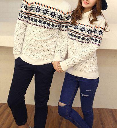 Matching couple sweater