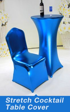 Banquet Bar Spandex Cocktail Table Covers,Stretch Chair Covers for wedding,elastic Lycra chair sash