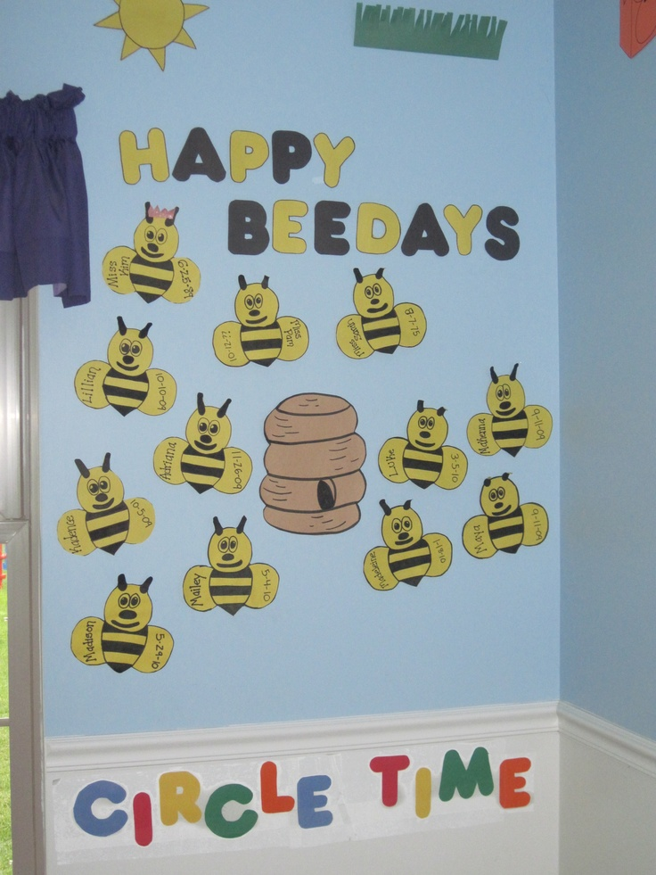 the summer theme birthday board I made for my Toddler Classroom last summer..