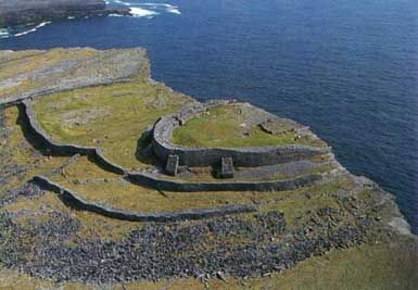Aerial View of Dun Aengus Fort, Inishmore, County Galway, Ireland