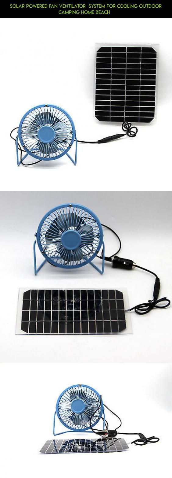 Solar Powered Fan Ventilator  system for Cooling Outdoor Camping Home Beach   #fpv #parts #plans #products #camping #racing #shopping #technology #outdoor #cooling #drone #kit #gadgets #tech #camera