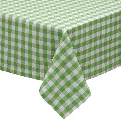 Design Imports Checkers Tablecloth   27916. Green TableclothCheckered ...
