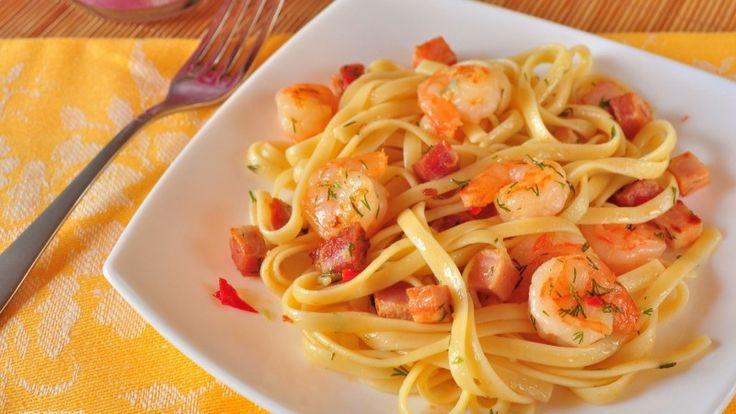 Спагетти с креветками — Кулинарная книга - рецепты, фото, отзывы
