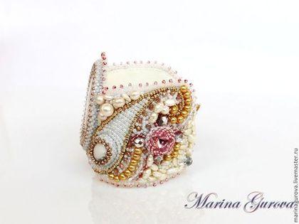"""Bratari lucrate manual.  Pentru brățară """"Versailles"""".  Marina Gurov margele elegant.  Masters corect.  Japoneze margele de semințe, broderii de mână"""