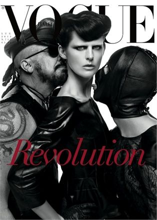 Revolution... in 25 Years of Fashion by Steven Meisel, July 2013 - Gucci
