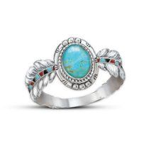 Turquoise Ring: Sedona Sky by The Bradford Exchange // Description Two sacred Native American symbols - the precious turquoise and the eagle feather - combine in this unique, one-of-a-kind turquoise ring, Sedona Sky, a fine jewelry design exclusively from The Bradford Exchange. Handcrafted in solid sterling silver, this turquoise ring is a rich blend of Native American-inspired jewelry and stunni// read more >>> http://Chronister488.iigogogo.tk/detail3.php?a=B00CE06A0S