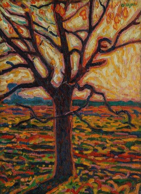 Leendert 'Leo' Gestel (Woerden 1881-1941 Hilversum) Boom in de herfst - Kunsthandel Simonis en Buunk, Ede (Nederland).