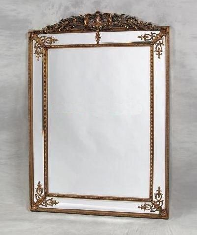 this is it !!!!!!!! Large Gold Decorative Framed Wall Mirror with Crest Top