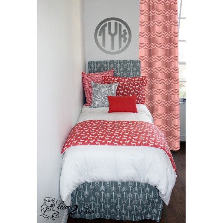 Good Preppy Gray Dorm Room Bedding